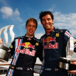 Sebastian Vettel and Mark Webber