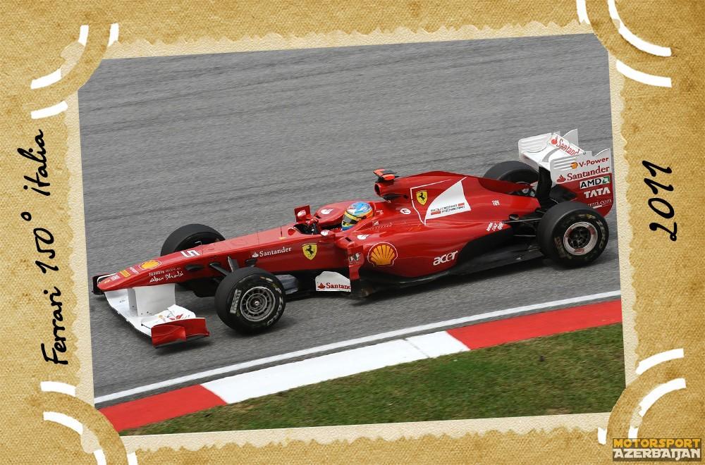 Ferrari, Scuderia Ferrari, Ferrari 150° Italia, 2011, Fernando Alonso, Felipe Massa