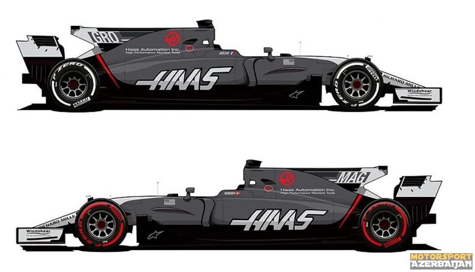 Haas komandası bolidin rəng çalarlarını dəyişib